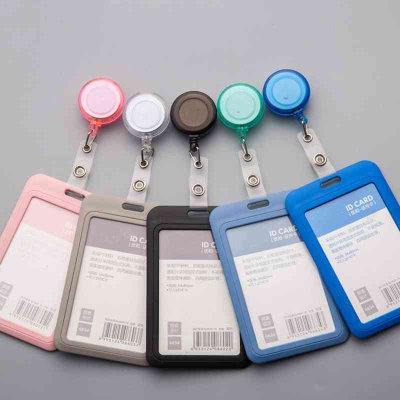Badge Holder Card Case With Lanyard And Retractable Reel