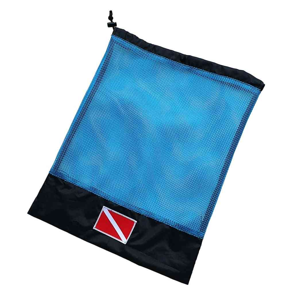Mesh Storage Gear Bag With Reinforced Corners And Drawstrings