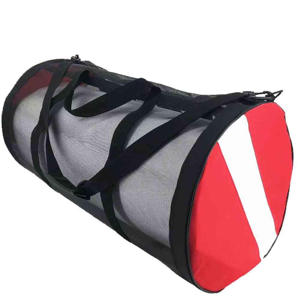 Scuba Diving Equipment, Wet Clothes, Swimming Fins Storage Mesh Bag