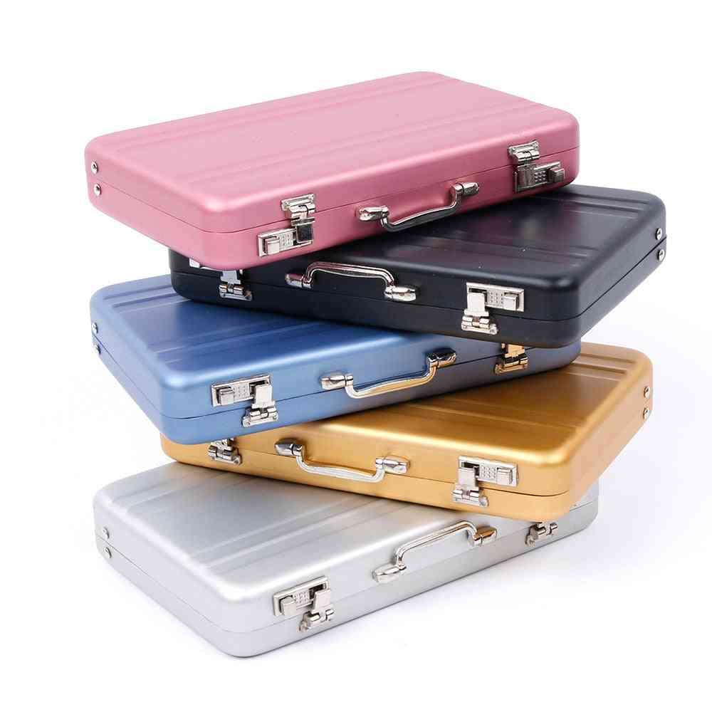 Mini Briefcase Square Business Card Case Id Holders