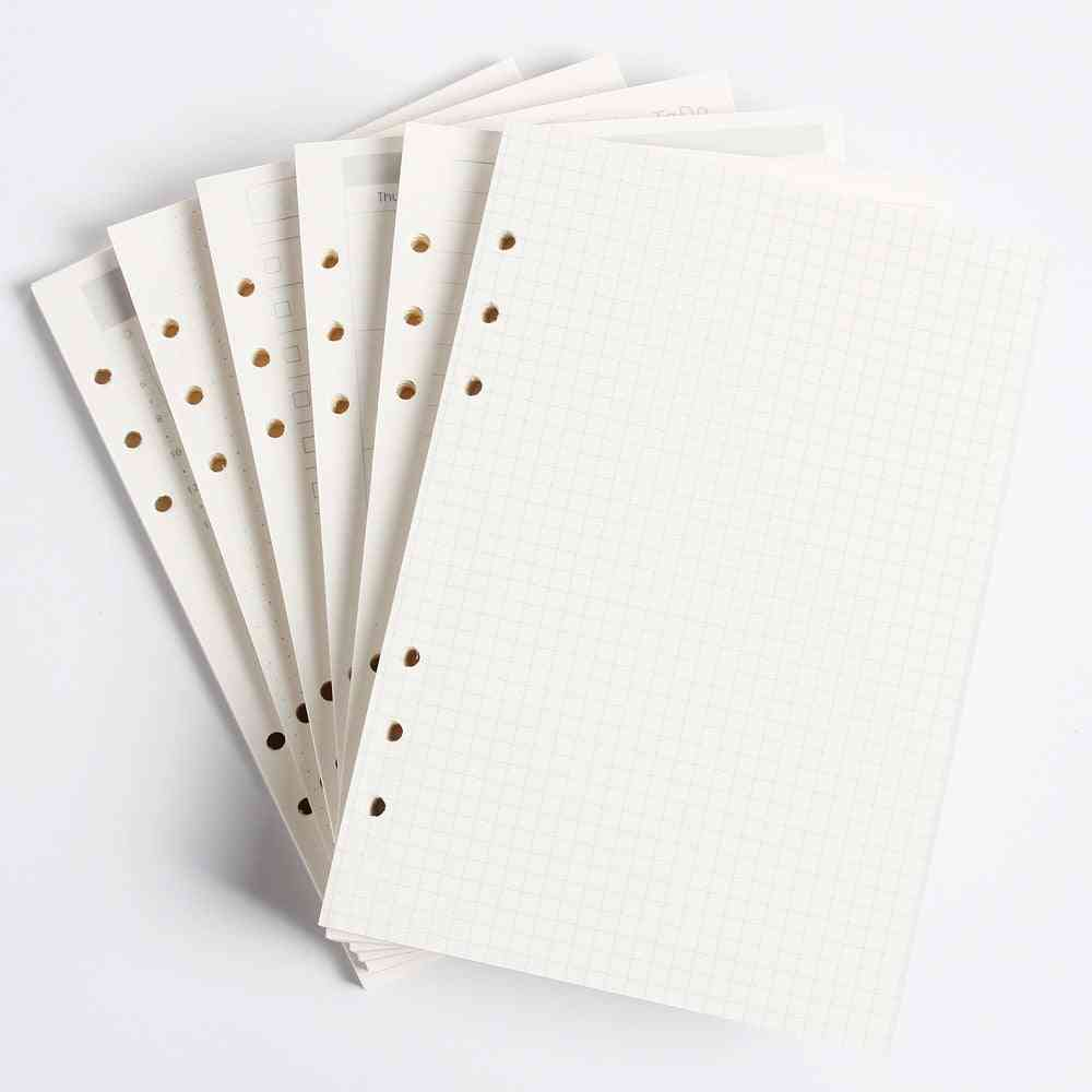 Classic 6 Holes Binder Notebook, Inner Paper Core Refilling Daily, Weekly & Monthly Planner