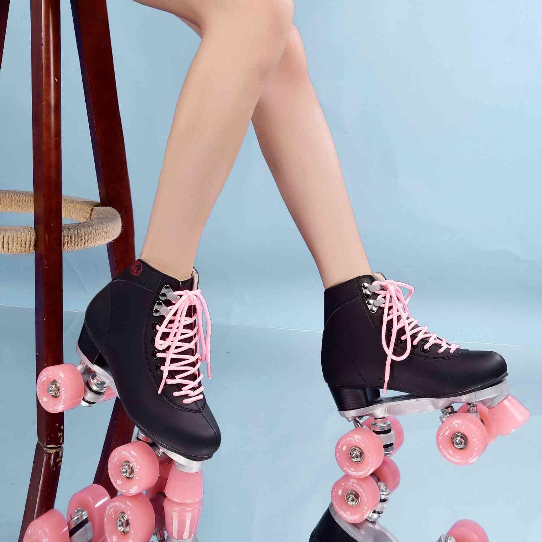 Women & Men 4 Wheels Roller Skate Shoes