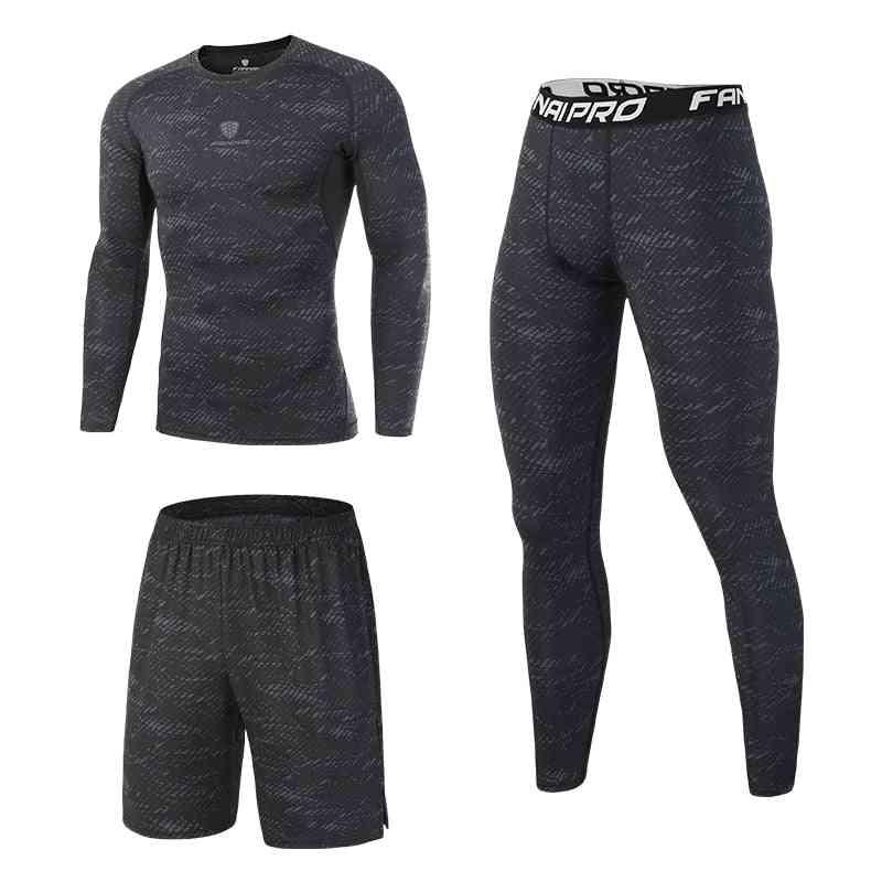 Compression Men's Sport Suits Quick Dry Fit Running Set