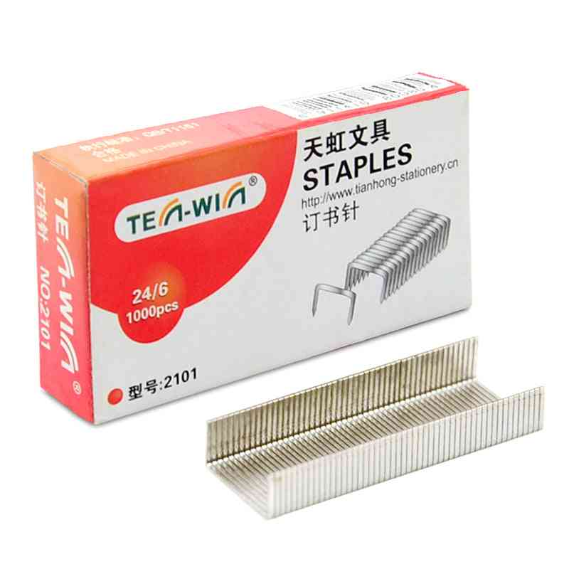 Silver Metal Staple Finance Universal Paper Nailing Tools