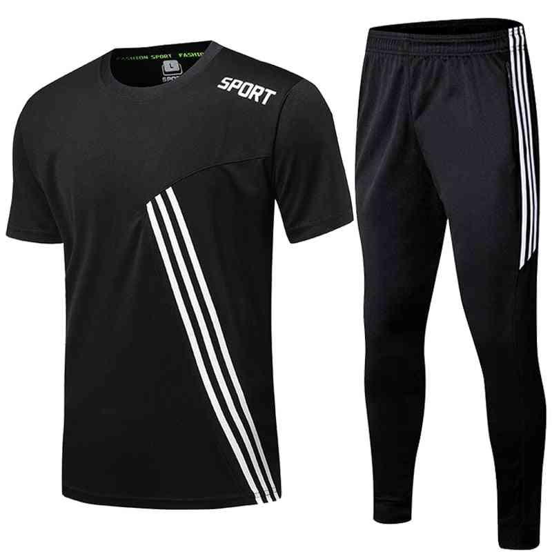 Sport Jogging Zip Running Pants, Men Soccer Fitness Workout Gym Running Suit