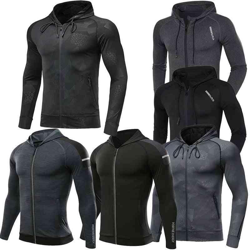 Gym Sports Running Training Fitness Bodybuilding Sweatshirt Hooded Jacket