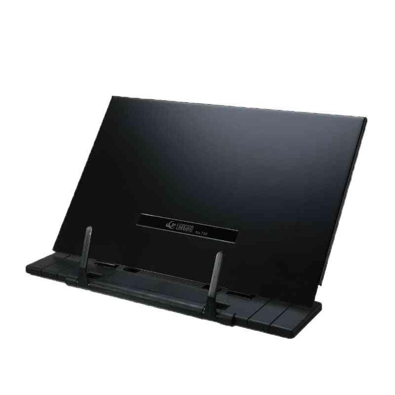 Portable Book Stand Frame, Reading Desk Holder With 7-tilt Adjustable Grooves For Office School (black)