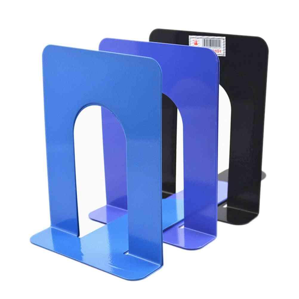 Foldable Portable, Metal Bookends Shelf Holder
