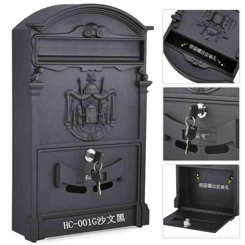 Retro Mailbox Villas Post Box European Lockable
