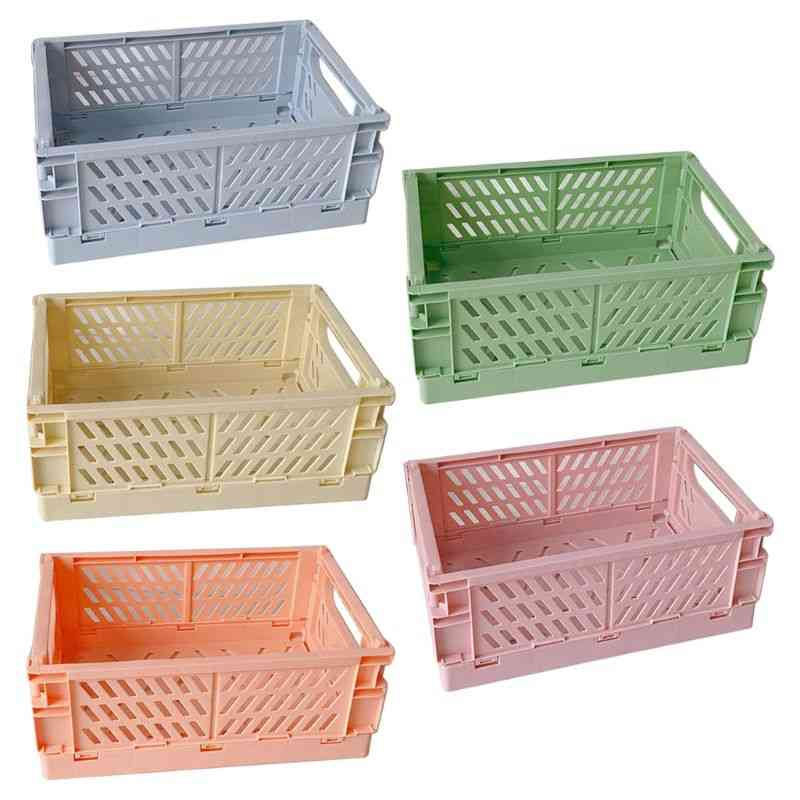 Collapsible Crate, Plastic Folding Storage Box