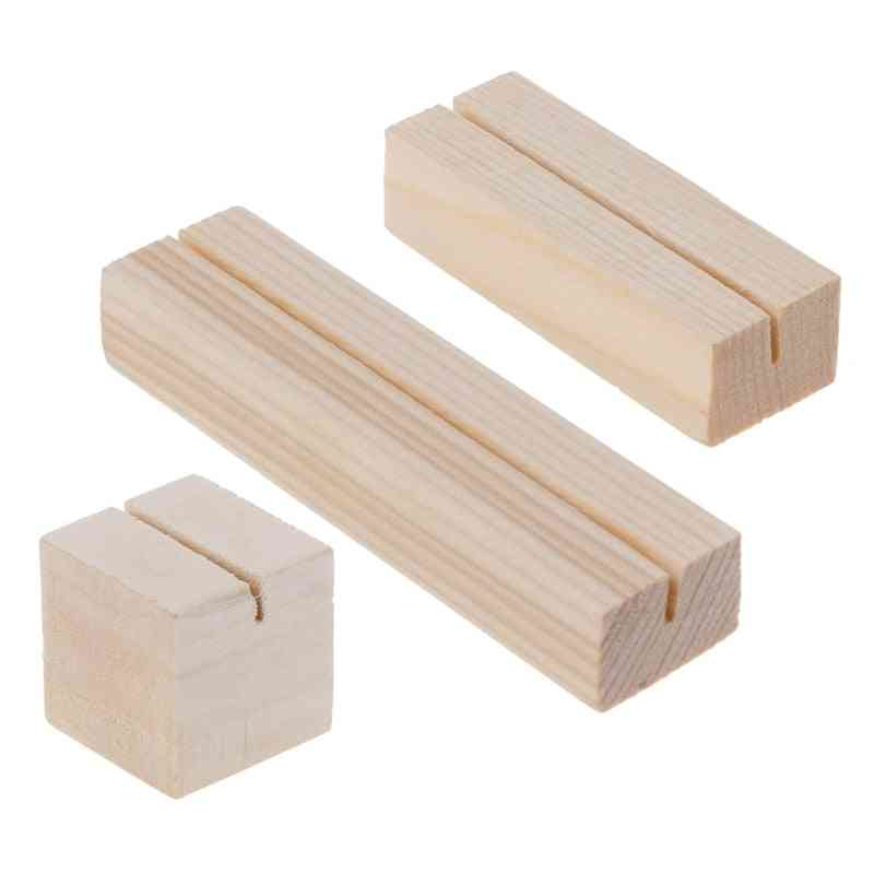 Natural Wood Memo Clips, Photo Holder Clamps, Stand Card Holder