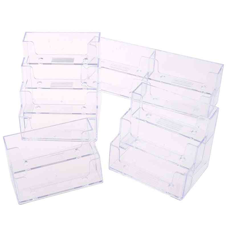 Stand Clear Transparent Display Business Card Holder