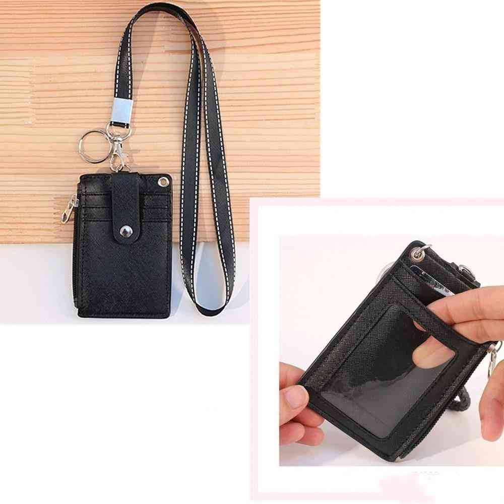 Pu  Leather, Business Card, Display Holder Case Korean Style