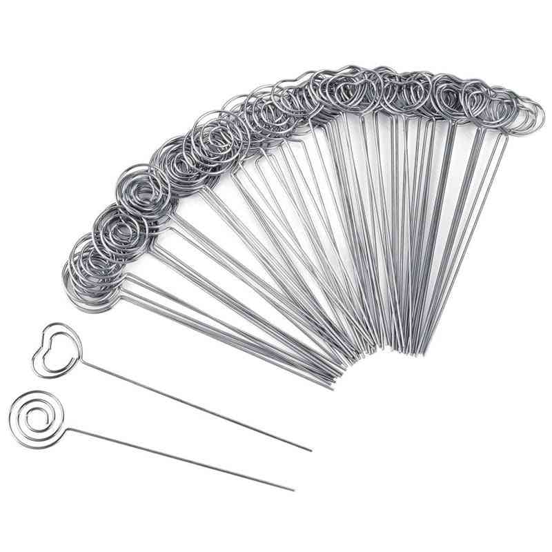 Metal Wires Heart And Round Shape Memo Clips