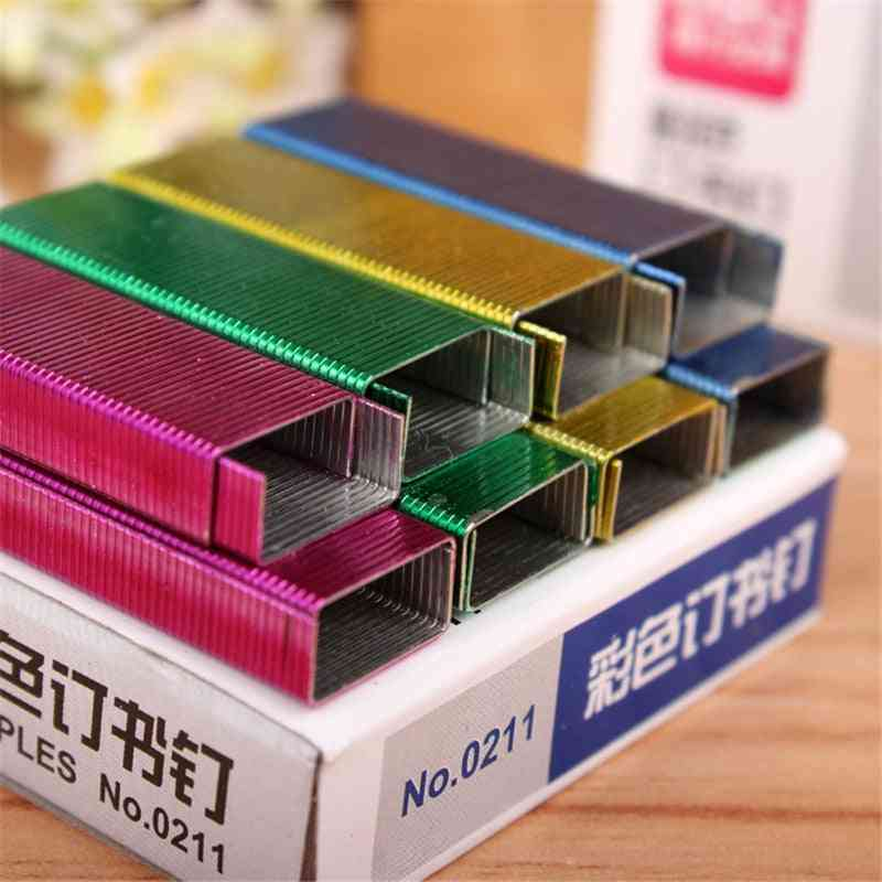 Colorful Stapler Stitching, Book Staples