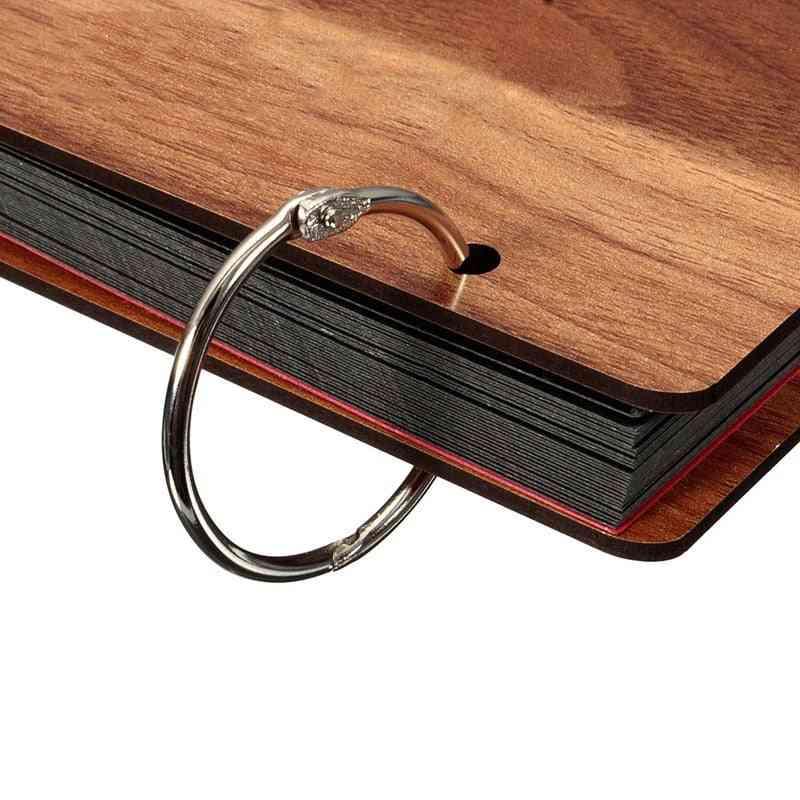 Inner Metal Loose Leaf Book Binder Buckle Ring, Keychain Scrapbook Sketchbook Craft Photo Split