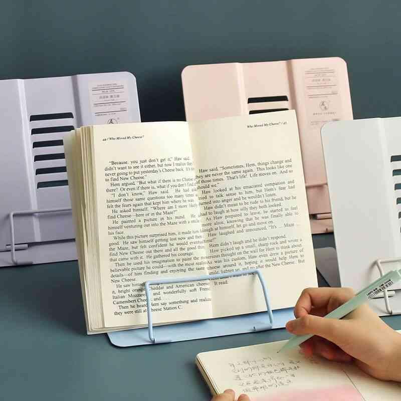 Foldable Morandi Color Metal Book Holder/stand For Reading