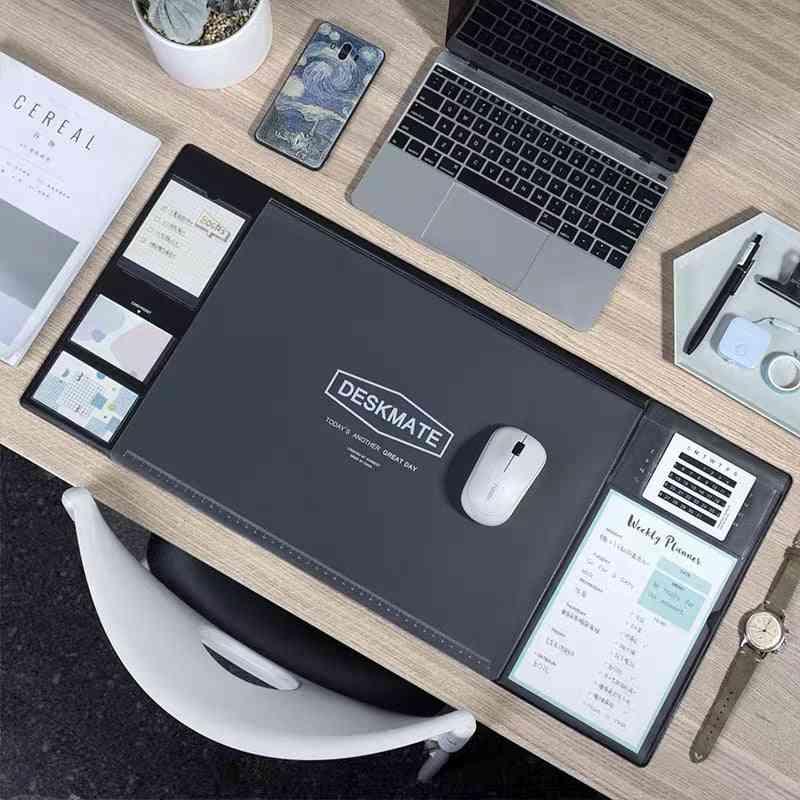 Large Office Computer Desk Mat, Modern Table Waterproof Pvc Laptop Cushion Desks Set With Calendar