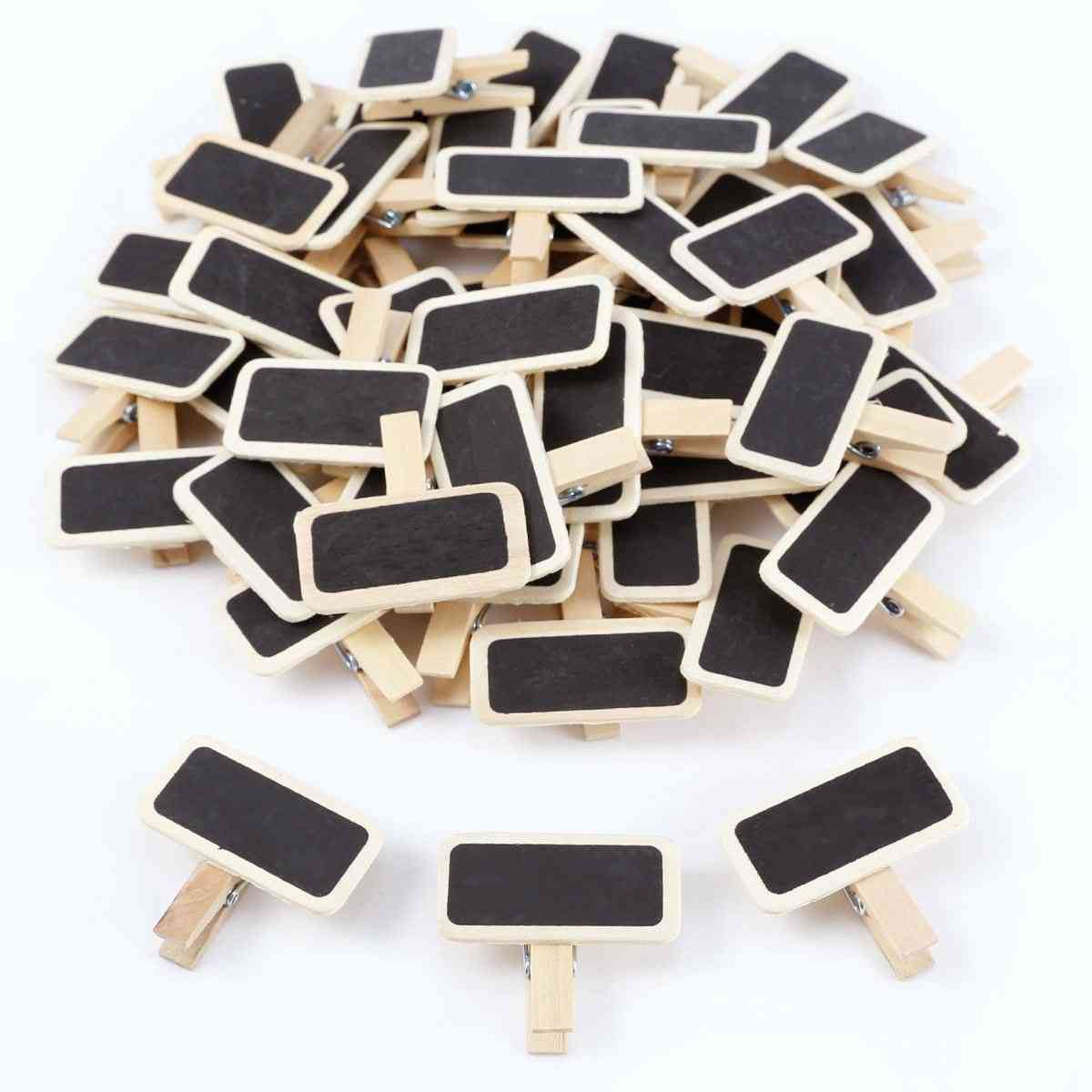 Mini Wooden Message Slate- Rectangle Clipboards