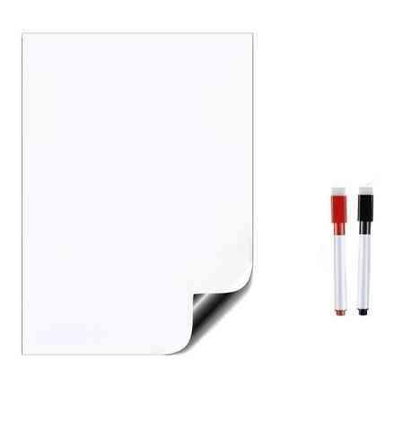 Soft Vinyl Fridge Magnet Magnetic Whiteboard, Erasable Office Memo Pad