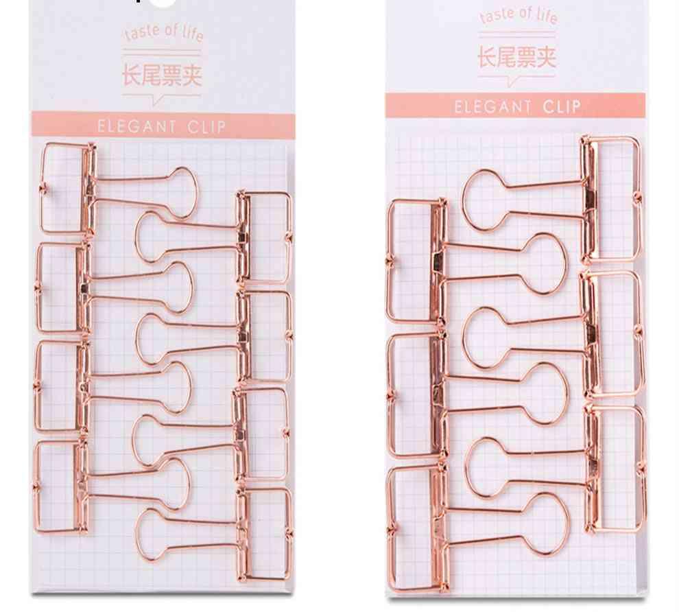 Rose Gold Hollowed Out Design Binder Clip