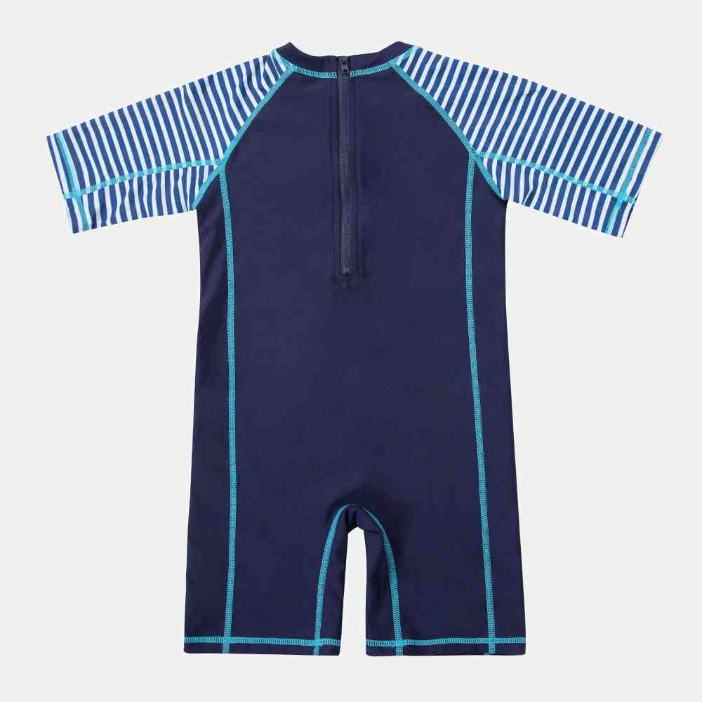 Boy's Swimwear Fish Printed Rash Guard Short Sleeve Swimsuit