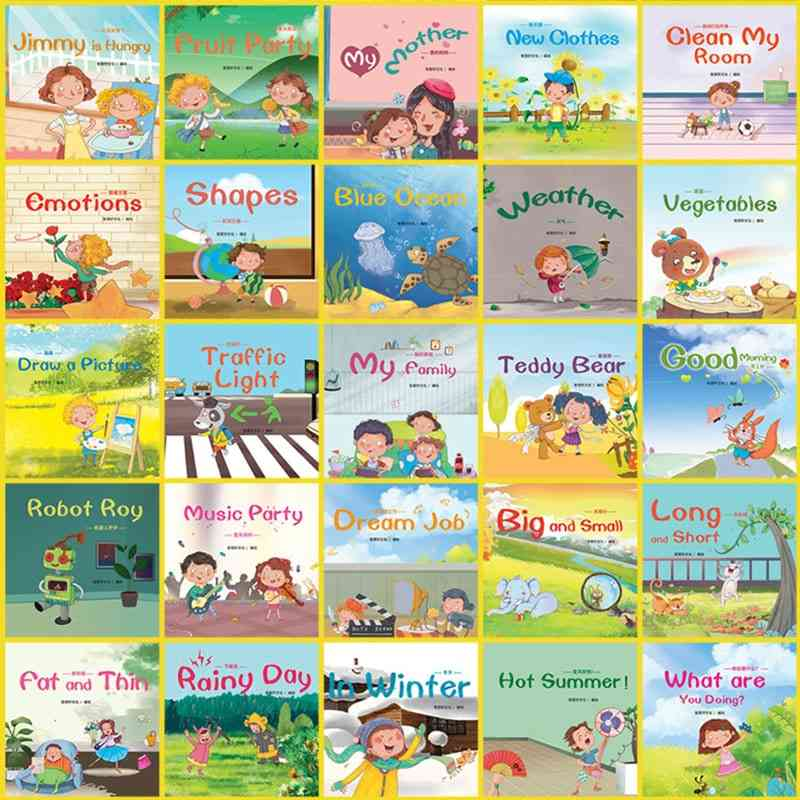 Random 10pcs Baby English Enlightenment Story Picture Books