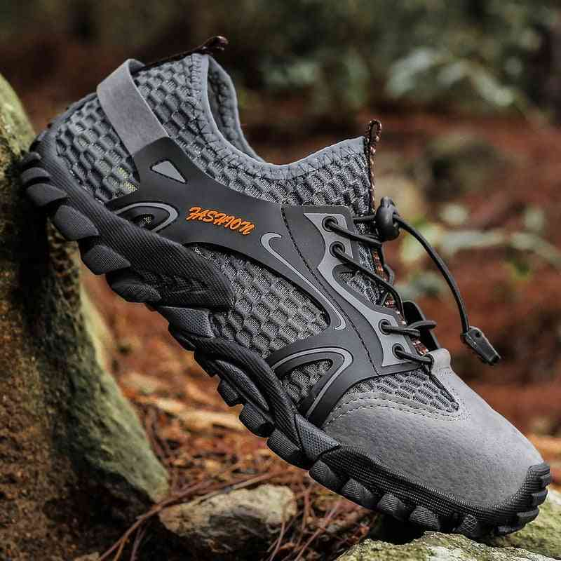 Summer Breathable Men Hiking Shoes, Outdoor Sneakers Climbing Sport Shoe