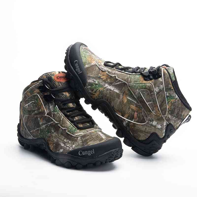 Men Waterproof Military Tactical Boots, Outdoor Combat Trekking Sneakers Shoes