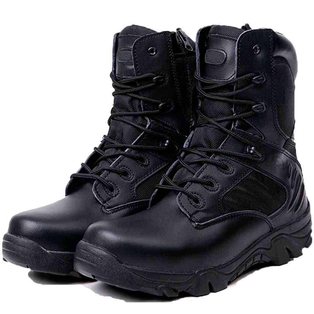Army Combat Boots, Men Breathable Tactical Anti-slip Shoes