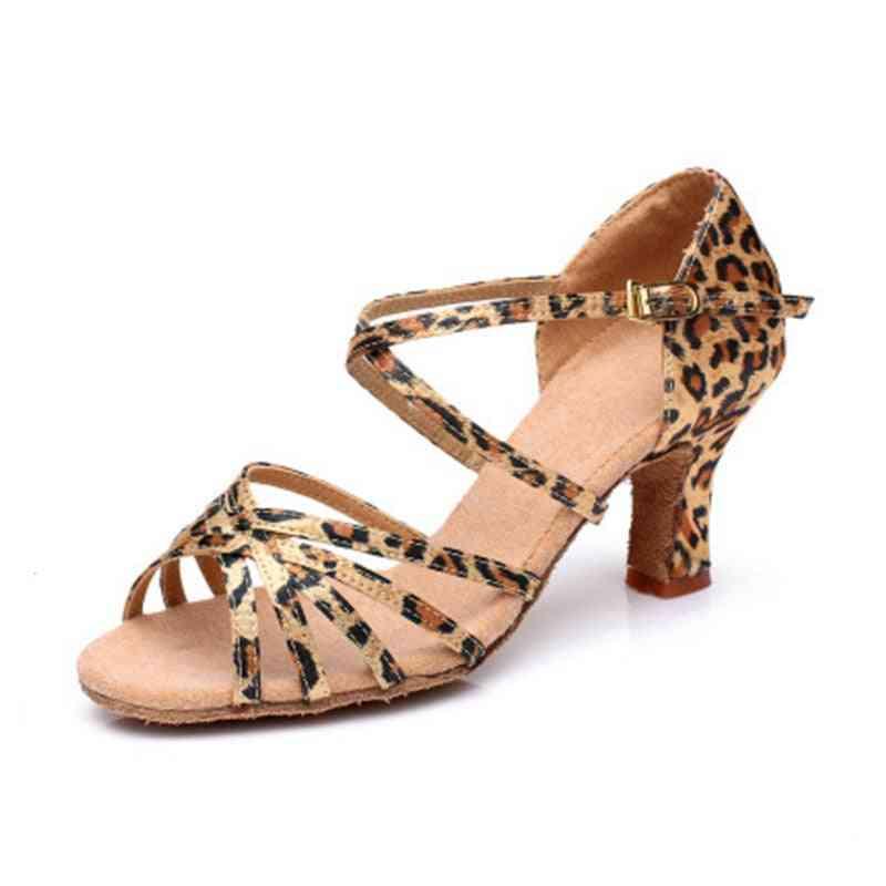 Satin Salsa Latin Dance Shoe For