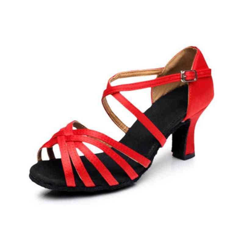 Satin Salsa Latin Dance Shoe Tango Ballroom