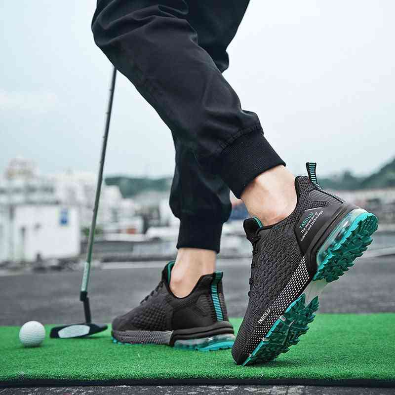 Breathable Golf Training Shoes For Men, Outdoor Anti Slip Athletic Sneakers
