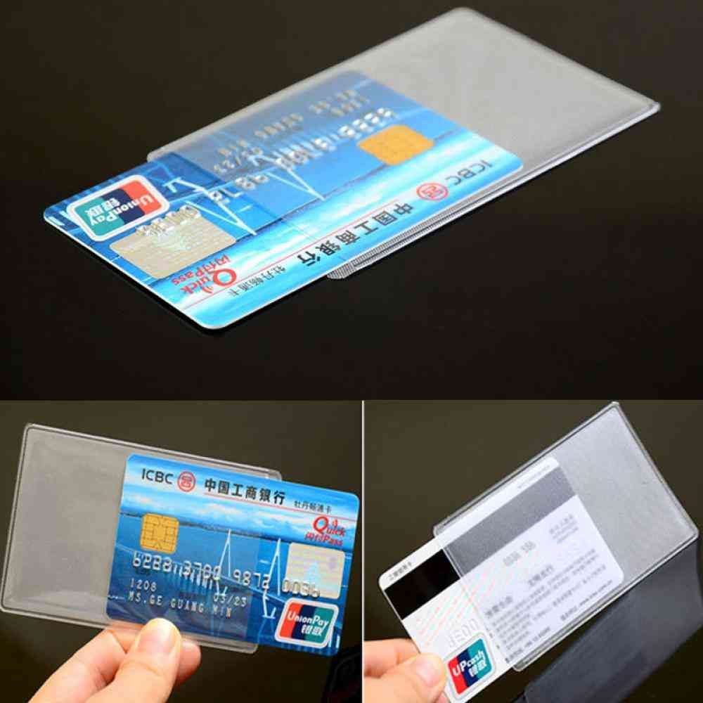 Tire Protector Student Credit Protect Business Card, Transparent Protective Cover