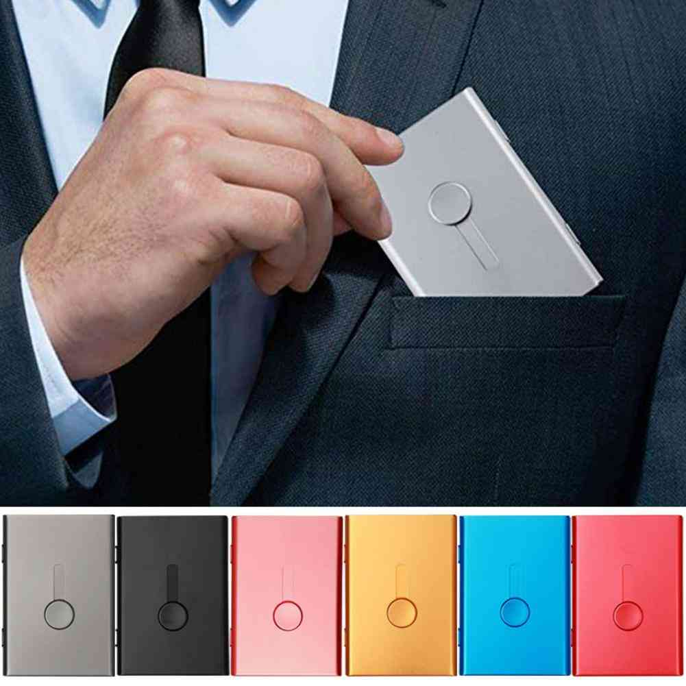 Thin Sliding Stainless Steel Id Card Holders