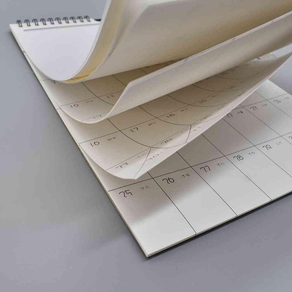 Daily Schedule Hand-painted Calendar, Monthly Wall Calendar Agenda Planner