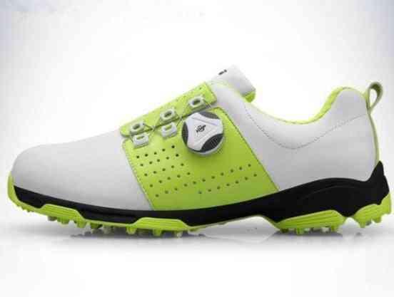 Men Waterproof Breathable Golf Shoes Buckle Slip Resistant Sneakers Outdoor