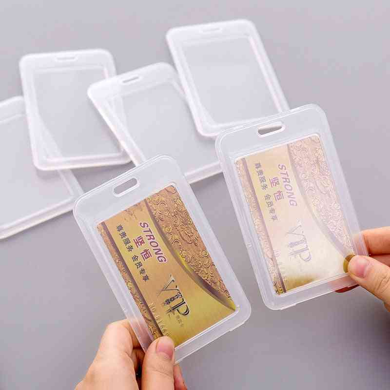 Simple Transparent Plastic Name Bank Card Cover Holder