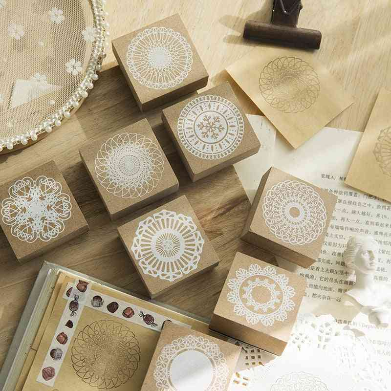 Lace Flowers Stationery Diy Stamps For Scrapbooking, Journal, Standard, School