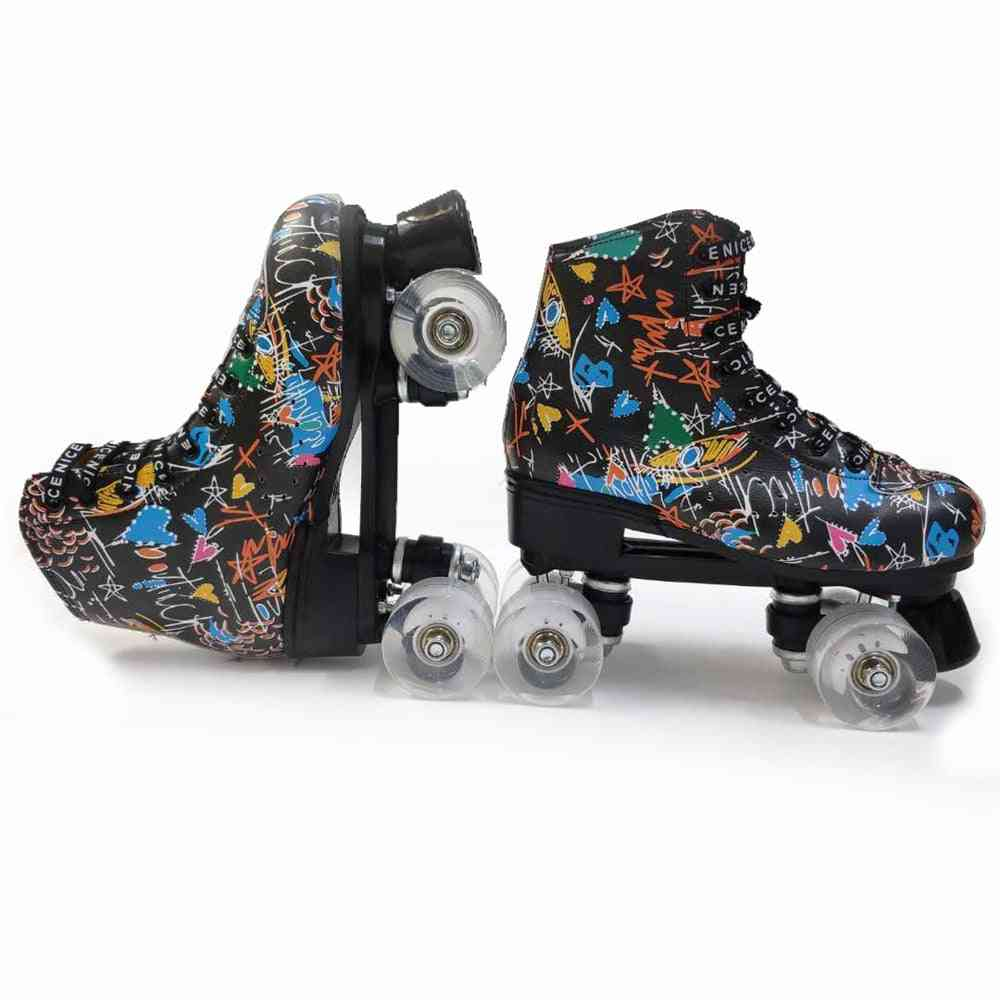Roller Skates Double Row Skating Shoes