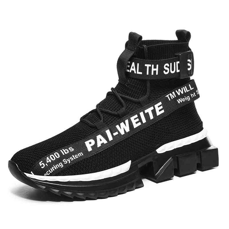 Men Sock Shoes, Breathable High Top Trainers Zapatos
