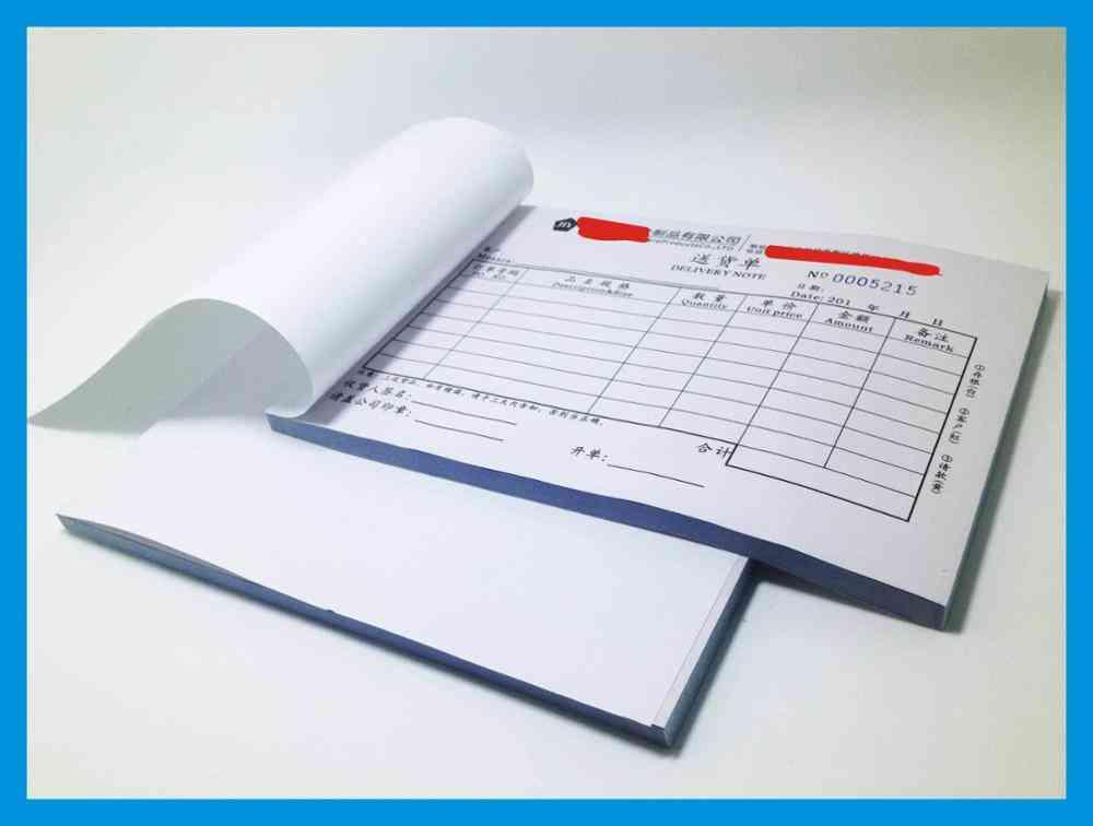 A5 Triplicate Invoice Forms / Book Duplicate Receipt Books Printing