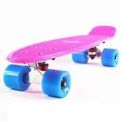 Plastic Mini Cruiser Skateboard, Small Skateboarding Single Banana Longboard