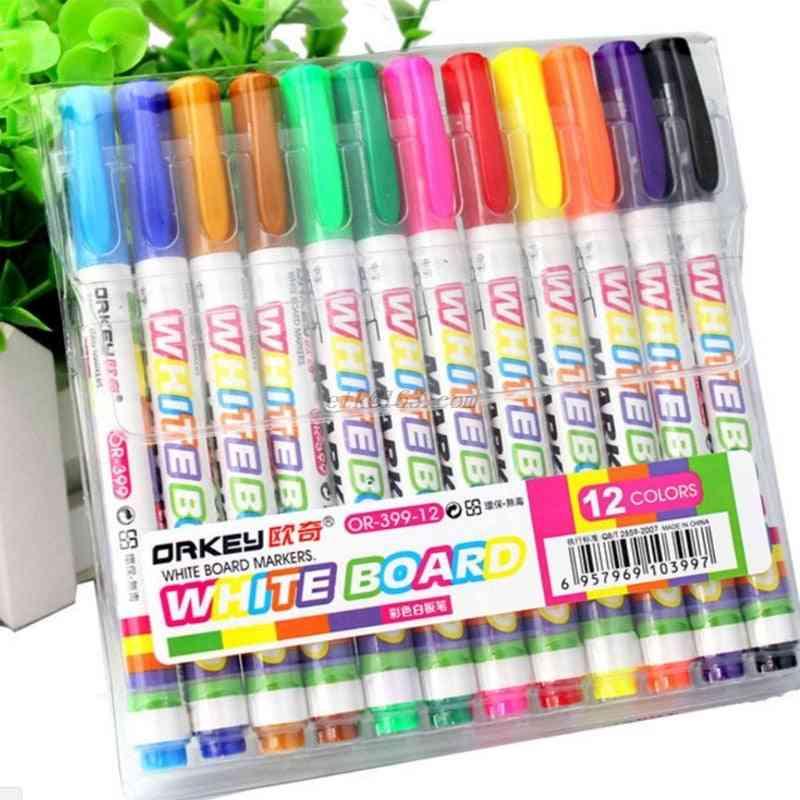 12pc Non-toxic, Dry Erase Whiteboard Marker