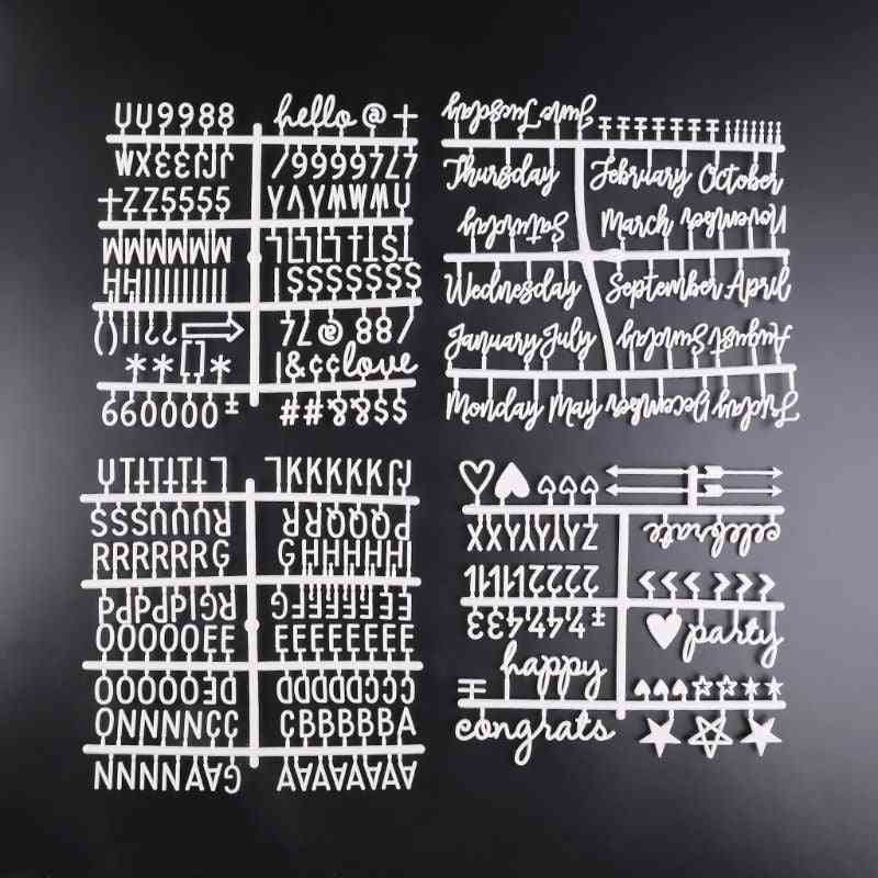 Changeable Characters/letter/numbers For  Felt Board