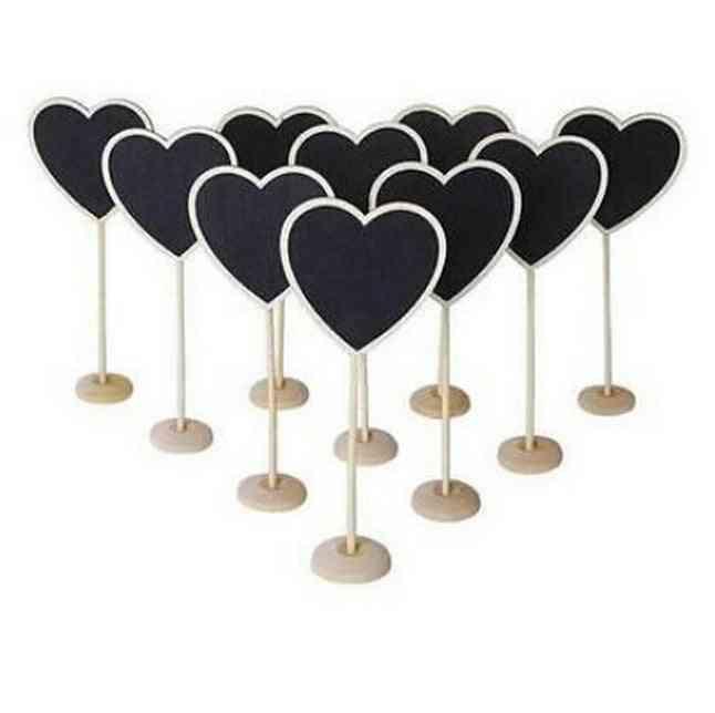 Heart Shape Wooden Mini Blackboard / Chalkboard