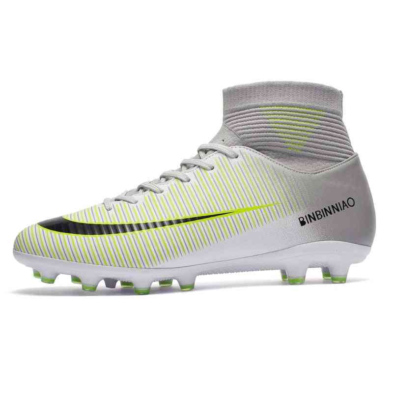 Football Soccer Cleats Long Spikes Sneakers Soft Indoor Footwear Boot