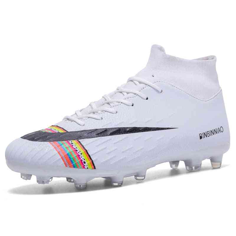 Football Soccer Cleats Long Spikes Soft Indoor Footwear Boot