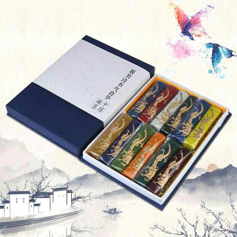 Painting Colored Ink Block Set