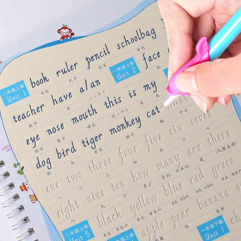 English Alphabet Word Letters Writing Auto Dry Repeat Practice Copybook